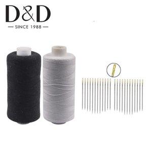 2pcs 500M polyester Fils à coudre 12pcs Auto Threading Aiguilles à coudre Aiguilles Craft Tissu bricolage Fournitures quilt
