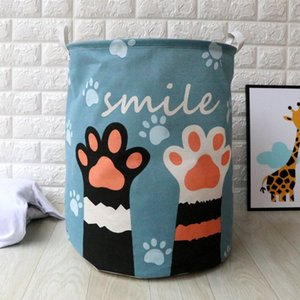 Hot New Cartoon Waterproof Laundry Hamper Dog Pattern Storage Baskets Home Decoration Storage Barrel Kid Toy Organizer Basket