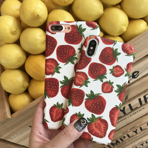 Strawberry Phone Case Matte For iphone 11 XR XS Cell Phone Accessories Hard Fitted Case With opp Bag