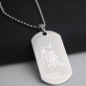 1 Leo acero inoxidable 12 de la constelación doce signo collar 12 Zodiac collar símbolo amuleto coreana suerte collar de la joyería 12 signo