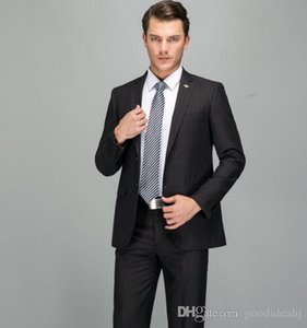 19SS new men's suits black stripe West fit version two-piece suit