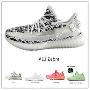 v2 boost 350 With Box Fast Delivery Kanye West Clay V2 Static Reflective Glow In The Dark Mens Running Shoes Hyperspace Women Men Sport De