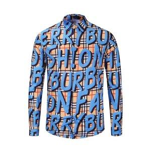La camisa de manga larga vestido de Oxford azul 2020 de los hombres con bolsillo en el pecho izquierdo algodón masculino botón sólido Casual camisas del tamaño grande C19041702