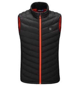 New Motorcycle Jacket Intelligent Aquecimento Jacket USB bateria elétrica aquecida Calor Outdoor Caminhadas Sking Vest Coats Warmer Corpo