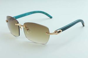 2020 nouvelle usine vente directe simples A11-B3524012 de lunettes de soleil de luxe sans cadre vert naturel / couleur des lunettes de soleil en bois du temple