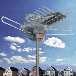 1080P extérieure longue portée Antenne TV HD TV Amplified 28-36dB 360DEGREE numérique du signal d'antenne Guide aronde sans navire Stand des Etats-Unis