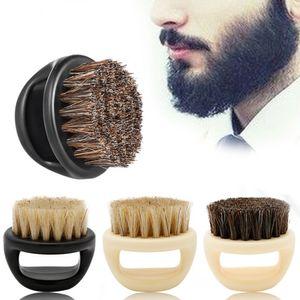 Dedo escova de cabelo anel de corte de cabelo da escova cabeça da escova homens de barba Limpeza Tipo de cerdas Cavalo Limpeza portátil