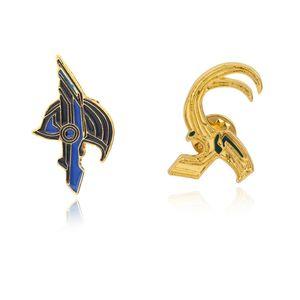 Marvel Pin Broche Thor Loki Casco Martillo Broche Para Mujeres Hombres Abrigo Bolsa Botón Pin Joyería
