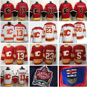 2019 Heritage Classic Calgary Flames 13 Johnny Gaudreau Jersey Mark Giordano 23 Sean Monahan Elias Lindholm Matthew Tkachuk TJ Brodie Hockey