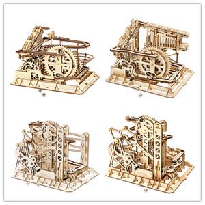 쉬운 조립 Robotime 3D 나무 퍼즐 대리석 실행 코스터 LG5 시리즈 DIY 멋진 소녀 장난감 및 선물 모델