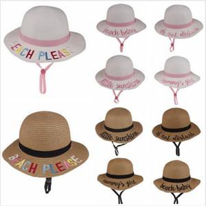 Kepçe Hat Çocuk Hasırşapkalı Sunhat yaz plaj güneş şapka Kelime Balıkçılık Caps Bebek Balıkçı Karikatür Çocuk Plaj Havza Şapkalar Moda Seyahat Cap C502
