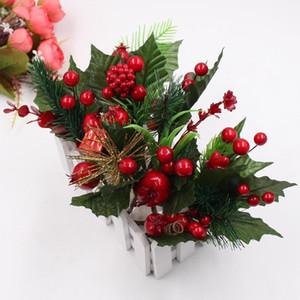 Искусственный цветок Красный жемчуг тычинки ягоды филиал для свадьбы рождественские украшения DIY День Святого Валентина подарочная коробка ремесло Flowe