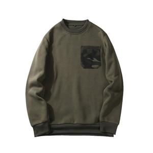 Autumn Hoody Sweatshirt Men Casual Camouflage Pocket Sport Shirts O-Neck Winter Mens Sportwear Warm Fleece Pluse Size Hoodies