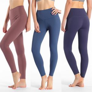 Mujer Pantalones de talle alto Yoga polainas desgaste de la gimnasia para mujer del entrenamiento polainas yoga de la señora pantalones elásticos de las polainas de las muchachas de baile