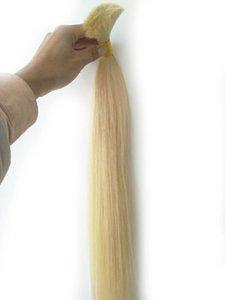 Good Deal 300g 613 Blonde Straight Brasil Extension in Bulk no weft Cheap Deep Wave Brazilian Human Hair Bulk For Braids, free Shipping