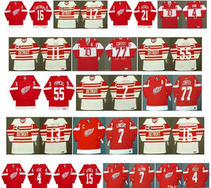 Vintage Detroit Red Wings Jerseys 77 PAUL COFFEY 11 SHAWN BURR 55 KEITH PRIMEAU 7 Ted Lindsay 13 VYACHESLAV KOZLOV 7 NORM ULLMAN CCM Hockey