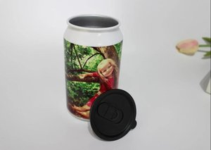Wholesale 350ml Customizable Coke Cans Stainless Steel DIY Photo Blank Sublimation Cup 50pcs aluminum bottles AS008