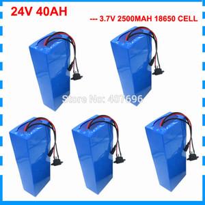50A BMS ile 5PCS Toptan 1000W 24V Li-ion pil 24V 40Ah elektrikli bisiklet pil 24V 750W scooter pil