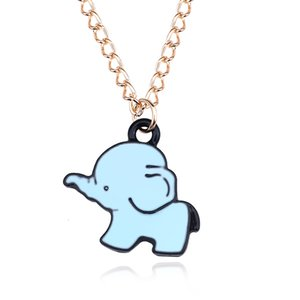 Collana girocollo Cute Cartoon piccolo pendente dell'elefante dello smalto collana animale catena dell'oro per le donne ragazze gioielli regalo Collier Femme