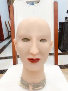 oft Silicone Realistic Feminino cabeça Máscara Handmade Maquiagem Mask Claire Deusa Top mascarada Cosplay Transgender