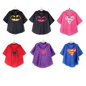 Kinder Wasserdichte Kühle Raincoat Drucken 6style Regen Kleidung Cosplay Regen-Gang Full Body Outdoor Wear mit Knopf für Kind-Regen-Mantel 10p