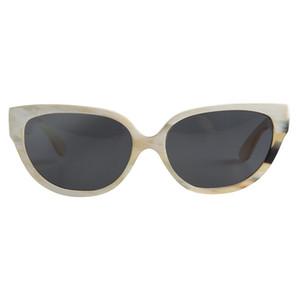 Nilerun Marke alte Art und Weise populäre klassische große großen Katzenaugen-Gelee Farbe handgemachte Rindhorn-Sonnenbrillen für Frauen Damen Horn Brillen