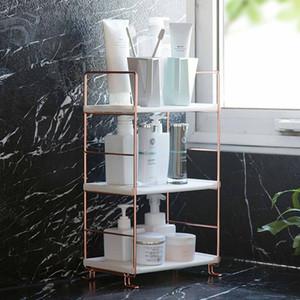 Baño estante de almacenamiento del estante de exhibición Estantes de stands Cosmetics Champú Holder carrito de la ducha de baño Organizador Multi-capa SH190920