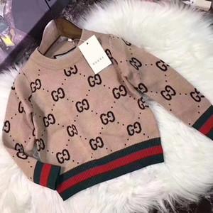 Venda quente camisola Boy 2019 outono malha capuz blusas de inverno para Bebés Meninas Crianças crianças roupas infantil Top