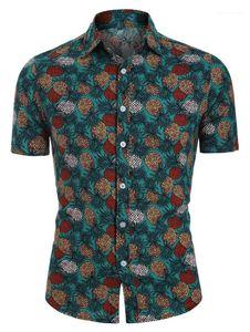 Summer Homme Designer Fashion Collier Polos Hommes T-shirts Casual Turndown Pineapple Imprimé Concepteurs Hommes Polos Tops Homme d'été