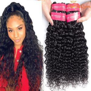 Ola extensión brasileña del pelo 8A 100% sin procesar humano de la Virgen haz de pelo 3pcs / lot Dyeable brasileña Agua Virgen de la onda del pelo