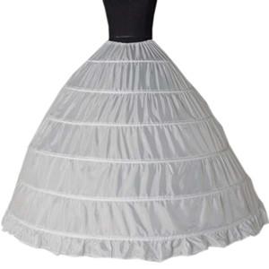2019 الجملة 6 الأطواق تنورات ضجيج لفساتين الزفاف الكرة ثوب تحتية الزفاف اكسسوارات الزفاف Crinolines