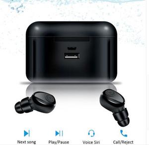 mini TWS X8 Vero auricolari wireless Bluetooth Auricolari Mini TWS Headfrees impermeabile con Banca di potere 2200mAh per tutto il telefono