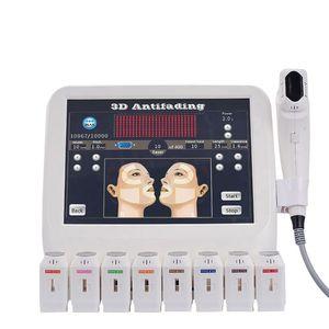 2020 nuovi portatili 12 linee 8 cartucce rimozione delle rughe viso corpo portante dimagrante 3d HIFU anti invecchiamento macchina ultrasonica