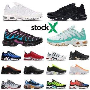 Nike air max TN shoes Просто Plus TN SE Мужские Кроссовки Laser фуксия Hyper Багровый Тройной Черный Белый Мужчины Mesh Chaussures Homme мужской тренер Спортивные кроссовки