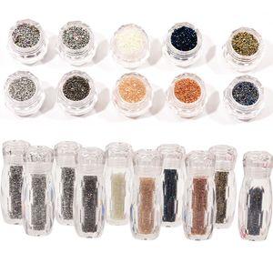 Bolso de 1bottle 0.8-1.1mm microesferas de vidrio Caviar 3D Mini-diamantes de imitación para los clavos decoración Micro Crystal Rhinestone jkpa105 cuentas de cristal