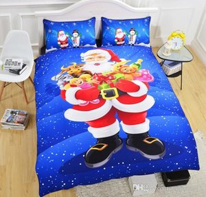3 pcs Christmas Bedding Set Bedclothes Full Queen King Size Bedding Sets Duvet Cover Pillowcases Christmas Decor