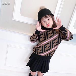 Yeni Geliş Erkekler kızlar Triko Çocuk Giyim Desen Örme Triko Erkek Bebek Kazak Triko İki Renkler Üst