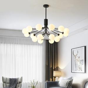 Modern Chandelier Lighting Per Soggiorno Nordic sfera di vetro lampadario Decor Branch le lampade LED AC85-266V hangLamp