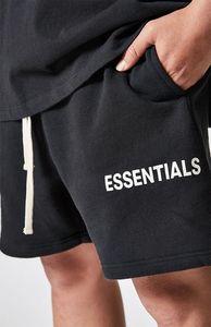 Mode-schwarzer Nebel Straße ESSENTIAL SHORTS Hip-Hop-Marke Mode Herren-Designer-Kleidung Männer Kleidung schwarz grau Schweiß Shorts Harem
