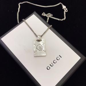 2020 concepteur de marques de luxe Esprit Colliers Choker Collier Carré Bijoux gg hommes en argent collier pendentif pour les femmes cadeau
