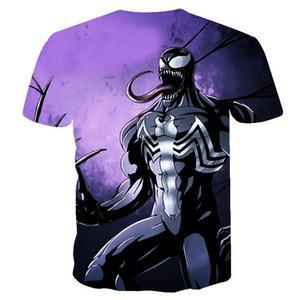 Forme la camiseta de los hombres más nuevos Venom Marvel camiseta 3D camisetas estampadas mujeres de los hombres camisa ocasional aptitud t shirt camiseta Tops