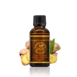 Lenf Drenaj Bakımı Organik Vücut Masajı Cilt Bakımı İçin% 100 Saf Doğal Masaj SPA Zencefil Uçucu Yağlar Parfüm Yağı 30mL Relax