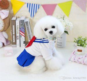Moda Criativa Primavera E Vestido de Verão Vestuário Stripe Princesa Cão saia azul Pet Shop 19yy bonito roupas de alta qualidade