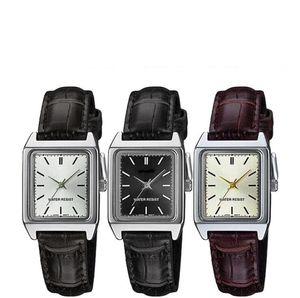 Top Brand Leather Strap Women Watches Bracelet Elegant Dress Leisure Square Shape Dial Silver Ladies Watch Clock Wirstwatch