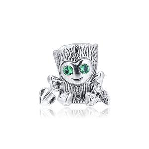 2019 Оригинал 925 ювелирных изделий стерлингового серебра Сладкого дерево монстра Charm Beads Подходит для европейского Пандора браслеты ожерелья для женщин Making