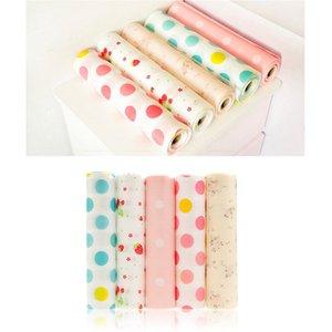5 Rolls / Set Kitchen Table gaveta Shelf Liner Contactar papel impermeável não adesiva Shelf Mat Paper Pad Sem Slid Atacado