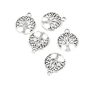 100 teile / los Vintage Tibetischen Silber Baum des Lebens Charms Anhänger 24mm Charme für Schmuck Machen DIY Armband Halskette