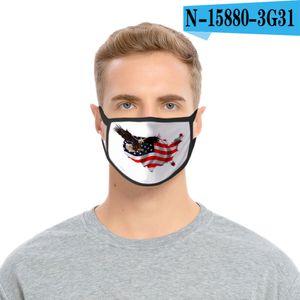 36styles 3D US Flag Mask American Independence Day Maschera maschere antipolvere lavabile 2020 Bocca calotta di protezione Modo GGA3511-9