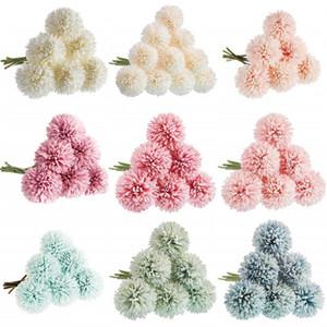 Artificielle Fleur de pissenlit tête unique de pissenlit Thorn Boule Cérémonie de mariage jardin Décoration Tiffany Bleu Champagne pissenlit