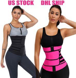 DHL vendita calda Tummy della vita Shaper cinghia di neoprene tessuto della vita Trainer doppie cinghie fitness Sweat Band Cintola Shapewear S-3XL Dimensioni